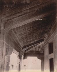 Close view of ceiling in the north verandah of the Turkish Sultana's House, Fatehpur Sikri